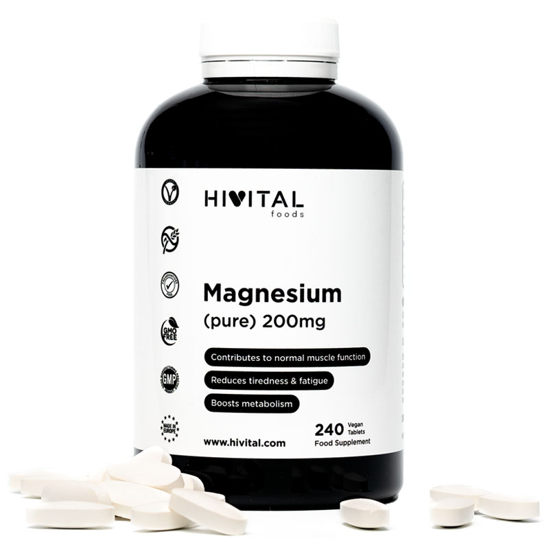 ▷ Magnesium Pure 200mg From Magnesium Citrate | 240 Vegan Tablets