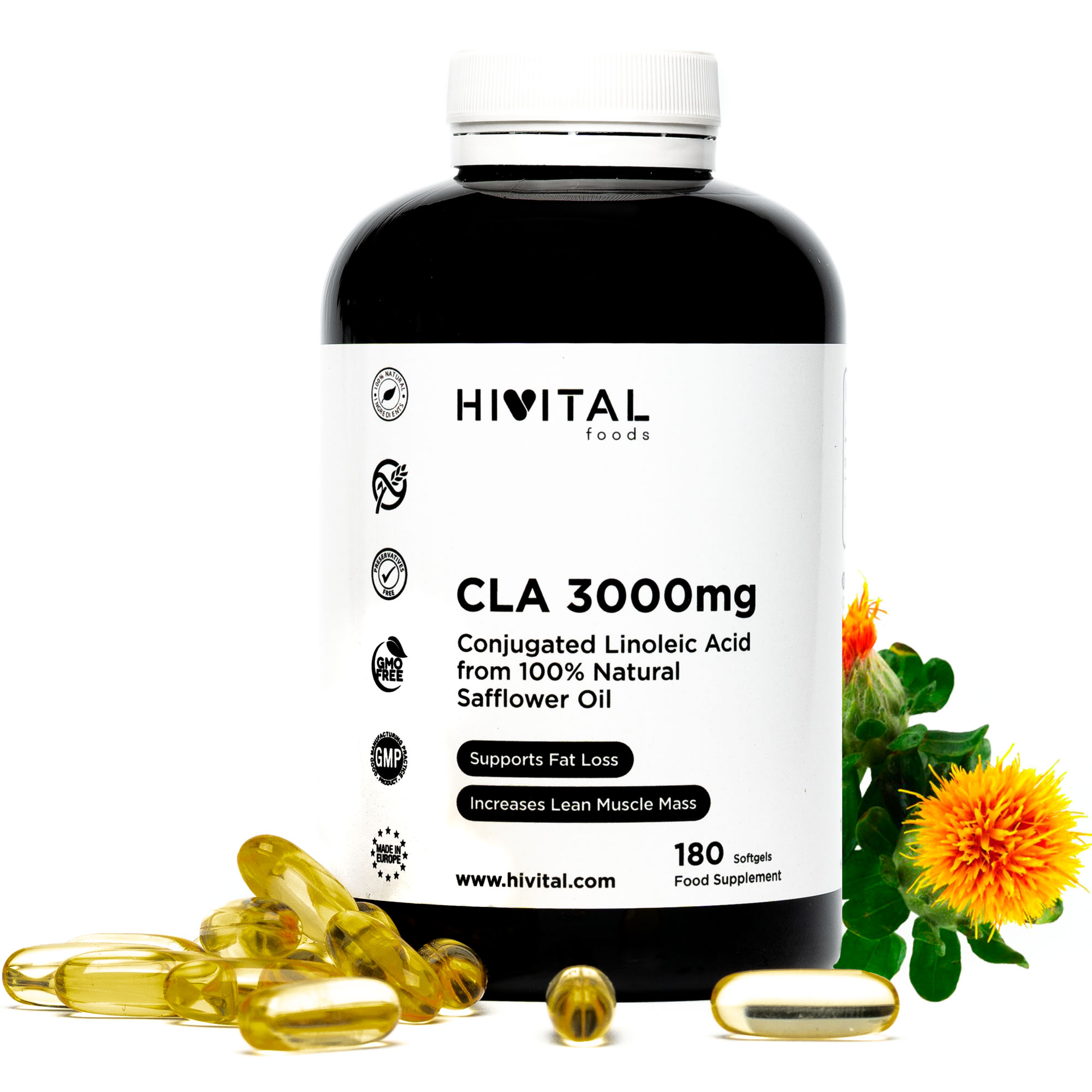 ▷ CLA Conjugated Linoleic Acid 3000mg | 180 Softgels