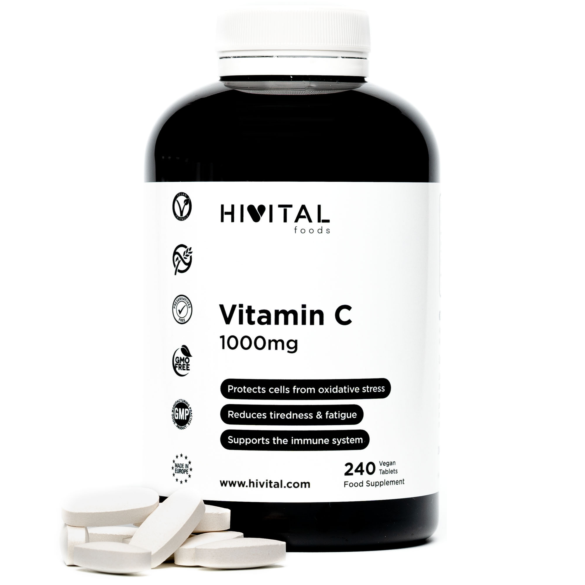 ▷ Vitamin C 1000mg | 240 Vegan Tablets