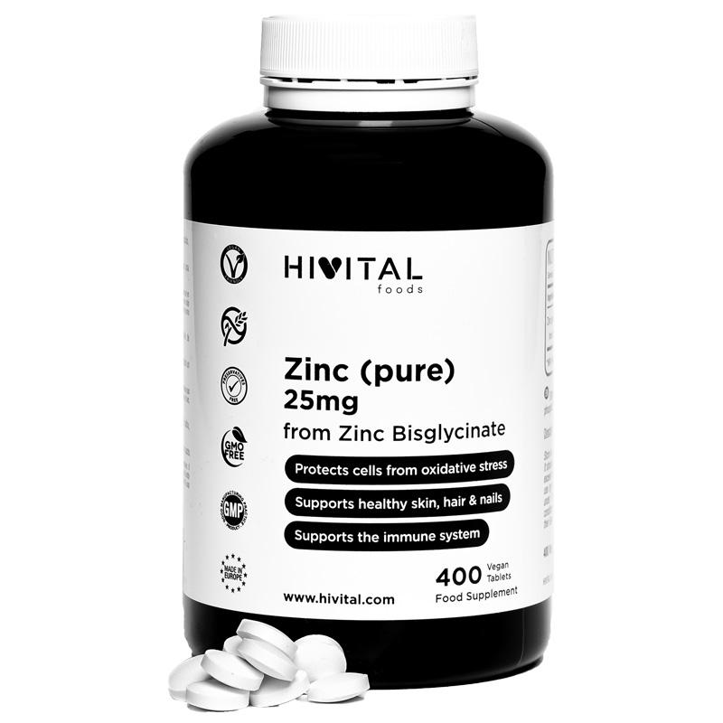 ▷ Zinc Pure 25mg | 400 Vegan Tablets