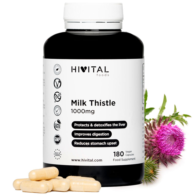 ▷ Milk Thistle 1000 Mg | 180 Vegan Capsules