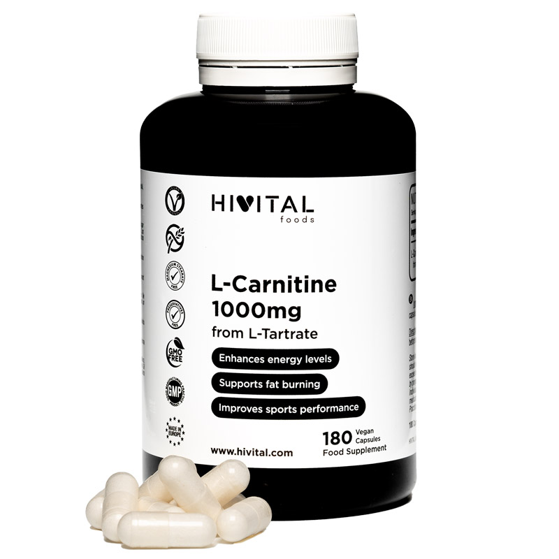 ▷ L-Carnitine 1000 Mg | 180 Vegan Capsules